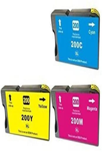 Generic Replacement 4 Ink Cartridges Compatible with Lexmark 200XL Pro4000 Pro5500 Pack of 3