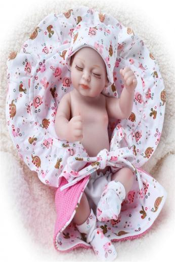 HiPlay 11 Soft American Baby Girl Doll -Realistic Silicone Vinyl Body Cute Outfit, Newborn Baby Dolls Kids, Toddlers