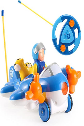 Cartoon R/C Airplane Radio Control Toy for Toddlers by Liberty Imports