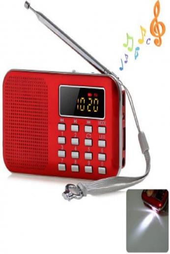 Red Portable Mini Multifunctional Digital LCD Display MP3 FM Radio