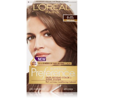 L'Oreal Paris Superior Preference Hair Color, 6 Light Brown