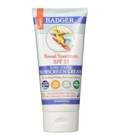 Badger Sport Sunscreen Cream SPF 35, 2.9 Ounce