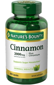 Nature's Bounty Cinnamon 2000mg Plus Chromium