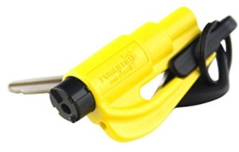 Resqme Seatbelt Cutter and Window Glass Breaker 2 in 1 Quick reliable Car Escape KeyChain Tool