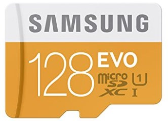 Samsung 128GB up to 48MB EVO Class 10 Micro SDXC Card with Adapter