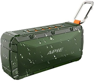 APIE Portable Wireless Outdoor Bluetooth Speaker IPX6 Waterproof Dual 10W Drivers