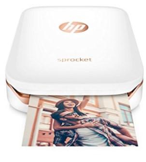 HP Sprocket Portable Photo Printer, X7N07A, Print Social Media Photos on 2x3 Sticky
