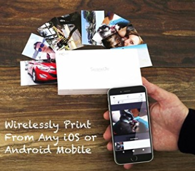 Portable Instant Mobile Photo Printer - Wireless Color Picture Printing from Apple iPhone, iPad or Android Smartphone Camera