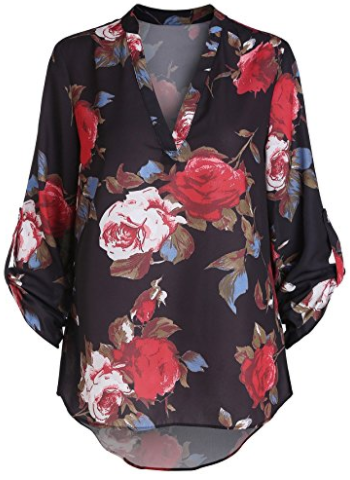 SheIn Women's Floral Printed Top