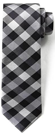 Origin Ties Fashion Gingham Plaid Men's Silk Skinny Tie