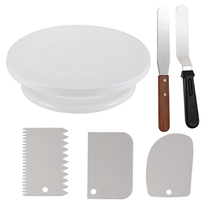 Cake Decorating Turntable,Thsinde Cake Decorating Supplies With Decorating Comb