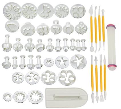HOSL Cake Tools 14 sets (46pcs) Flower Fondant Cake Sugarcraft Decorating Kit