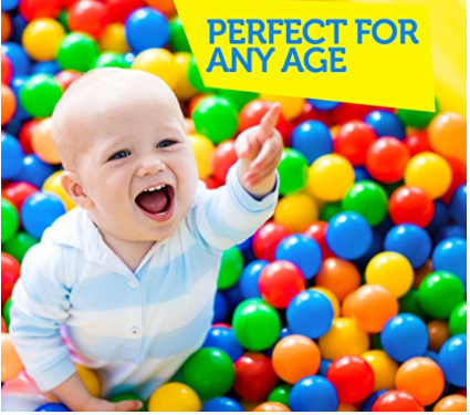 Kiddzery Plastic Balls for Ball pit, Crush Proof