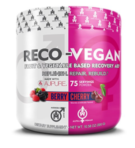 RECO VEGAN - Natural Tart Cherry L-Glutamine Antioxidant Supplement, Post Workout Antioxidants