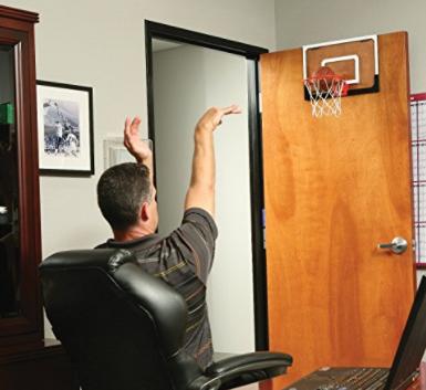 """SKLZ Pro Mini Basketball Hoop W Ball. 18""""x12"""" Shatterproof Backboard."""