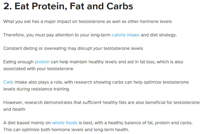 Eat Protein, Fat and Carbs