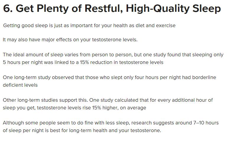 Get Plenty of Sleep and do Rest