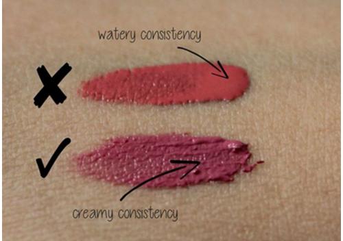 Consistency of the lip cream