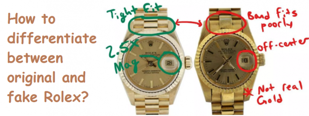 How to differentiate between original and fake Rolex?
