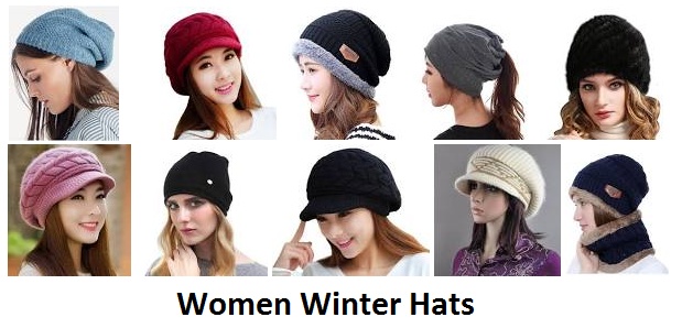 Women winter cap