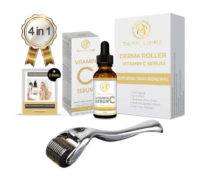 Derma Roller Kit 0.25 mm for Face with Vitamin C Serum