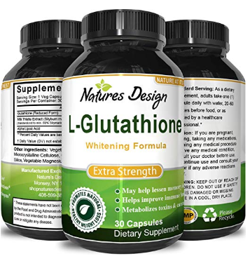 Natures Design L-Glutathione Skin whitening supplement