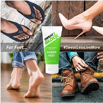 SweatBlock Antiperspirant Lotion for Hands & Feet