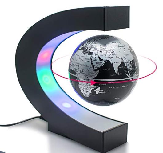 C shape Decoration Magnetic Levitation Floating Globe World Map