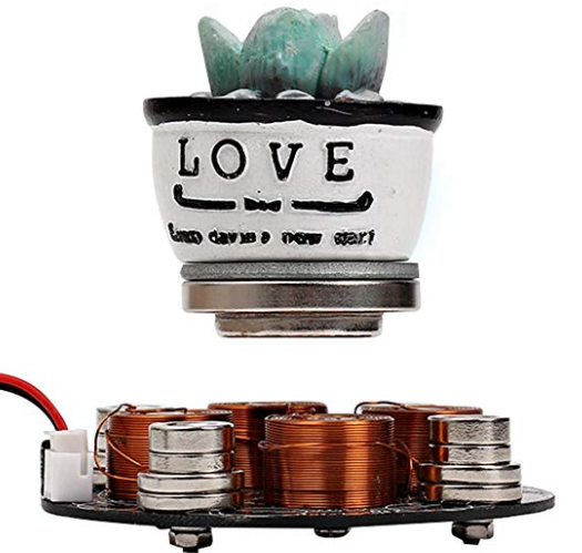 IS Icstation Electronic Maglev Levitron Magnetic Levitation Kit Display Suspension Stand Floating Holder Up to 220g for DIY Decoration Collection Show