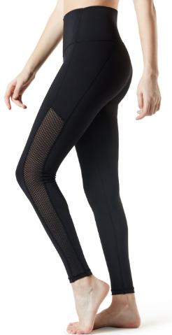 TM-FYP52-SDW_Medium Tesla Yoga Pants High-Waist Tummy Control w Hidden Pocket FYP52