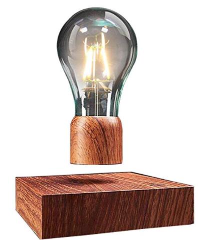 VGAZER Magnetic Levitating Floating Wireless LED Light Bulb Desk Lamp