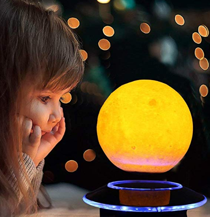 VGAzer Magnetic Levitating Moon Lamp Night Light Floating and Spinning in Air Freely with Gradually Changing LED Lights