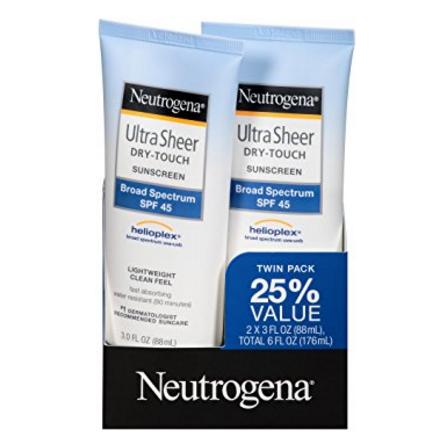 Neutrogena Ultra Sheer Dry-Touch Sunscreen Broad Spectrum SPF 45