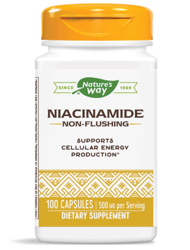 Nature's Way Niacinamide Supplement 500mg 100 capsules