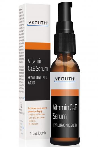 Anti Aging Vitamin C Serum For Day with Vitamin E and Hyaluronic Acid, Anti Wrinkle, Fill Fine Lines, Evens Skin Tone, Fades Age Spots, Medical Grade Skin Care Formula For Face - YEOUTH