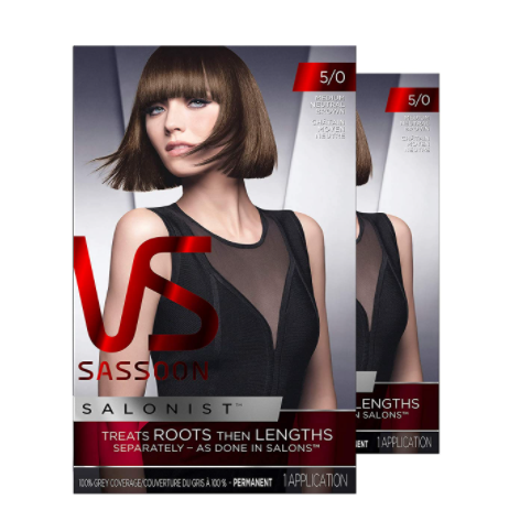 Permanent Hair Colour Kit by Vidal Sassoon - Medium Neutral Brown