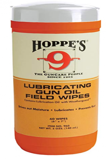 HOPPE'S No. 9 Large Lubricating Gun Oil Field Wipes