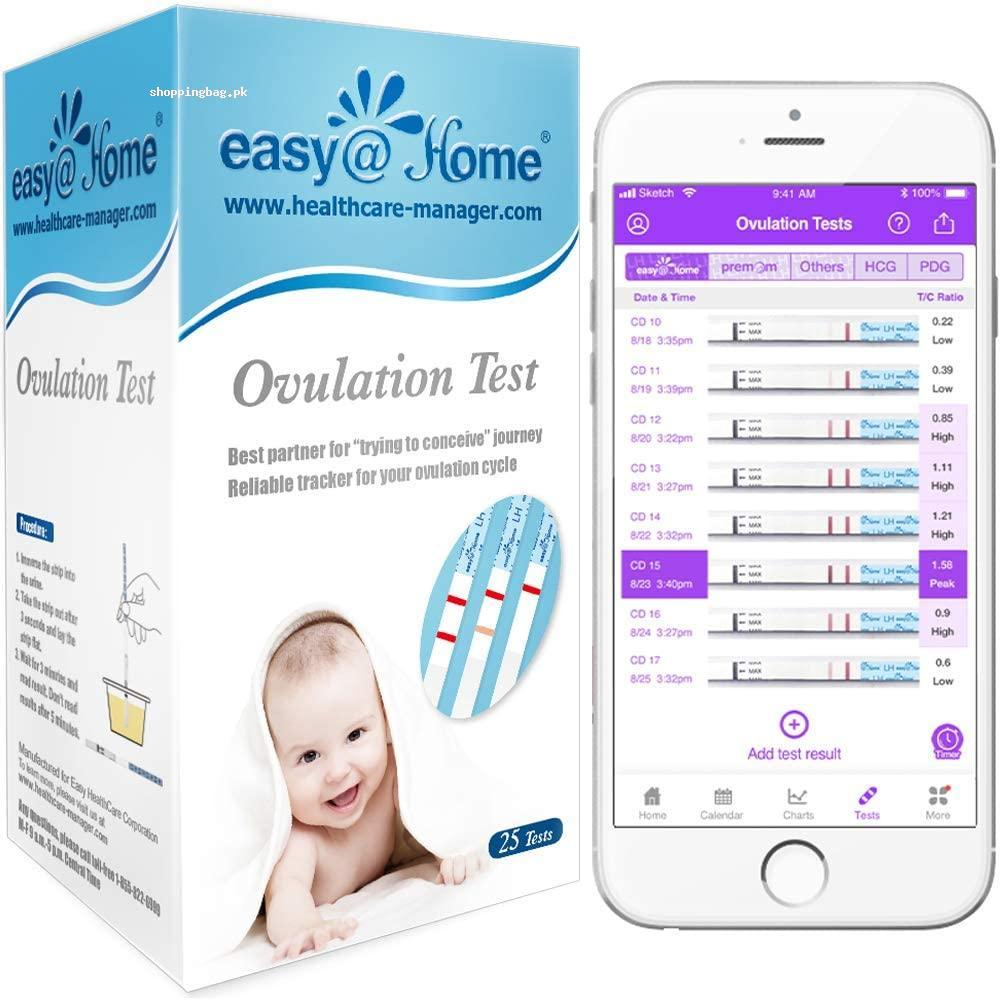 Ovulation Test Strips 25 Pack Fertility Ovulation Predictor Kit byEasy@Home