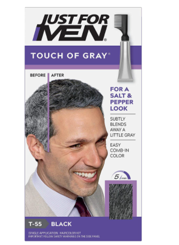 Just For Men Touch Of Gray Hair Color, Black Gray - 6 Count