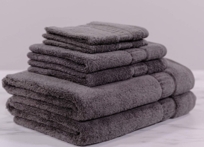 MyPillow Cotton Towel 6-Pack Mineral Gray