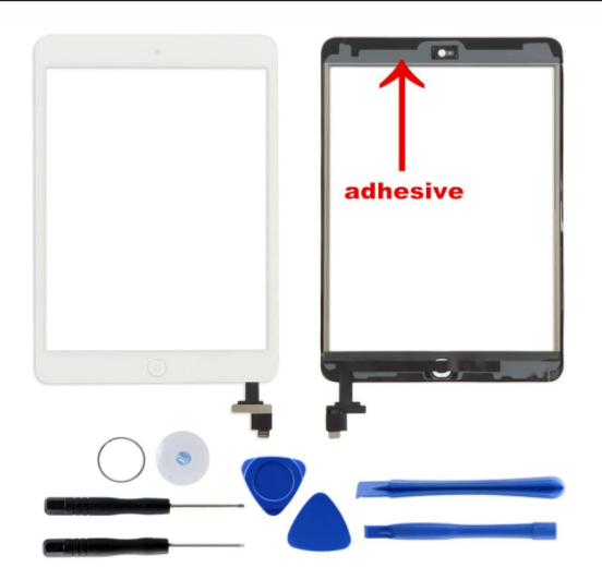 HDE Touch Screen Digitizer for iPad Mini 1 and 2 with Home Button & IC Chip