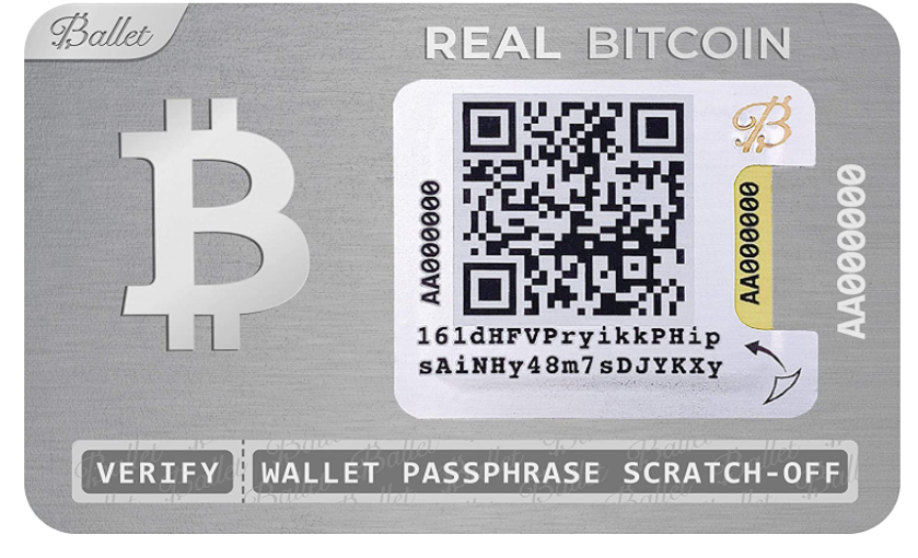 Ballet Real Bitcoin Crypto Cold Storage Wallet with Multicurrency Support
