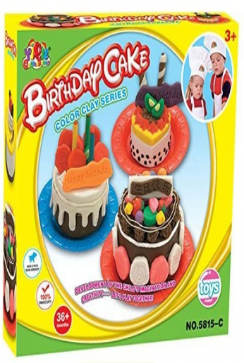 wps Color Clay Series DIY Birthday Cake Cooking Pretend Play Toy Accessories kit Set for Child Gift
