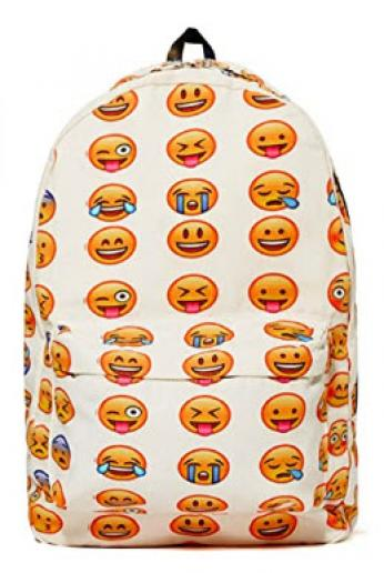 Boys and Girls Emoji Backpack School and Laptop Bag