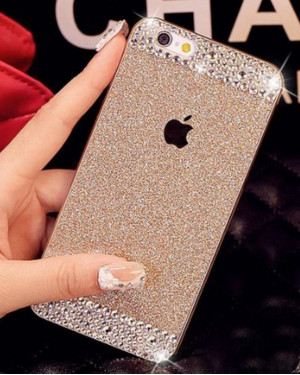 hot sale online c1b64 a1bd1 UnnFiko IPhone 6 Diamond Cover Case with Crystal Rhinestone