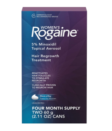 Womens Rogaine 5% Minoxidil Foam for Hair Thinning and Loss - 4-Month Supply