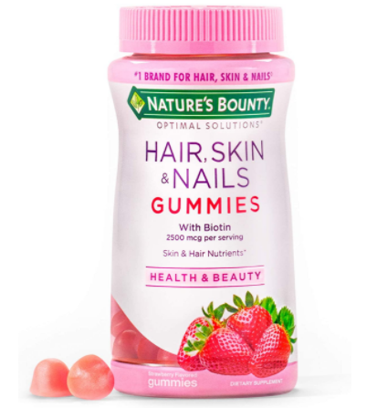 Nature's Bounty Optimal Solutions Hair, Skin and Nails Biotin Gummies