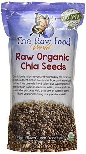 Raw organic chia seeds