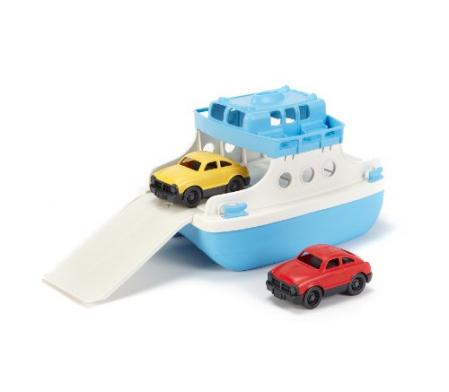 green toys ferry boat with mini cars bathtub toy shopping. Black Bedroom Furniture Sets. Home Design Ideas