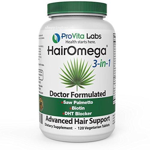 Hairomega 3-in-1 DHT Blocker Supplement for Hair Loss ...